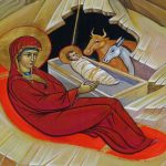 Nativity Icon, the Virgin with Christ in the manger