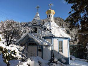 St Nicholas Church on a Snowy Day