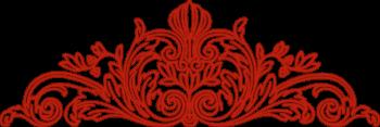 Top decorative flourish - Red