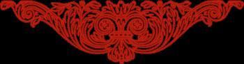Decorative Flourish - Red